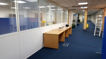 Glass office partitions Stockport