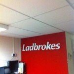 Ladbrokes bookies office suspended ceiling