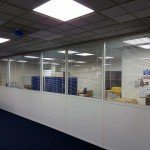 glass-melamine office partition