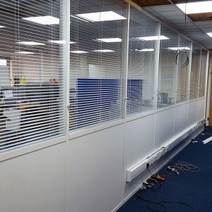 Glass office partitions Manchester