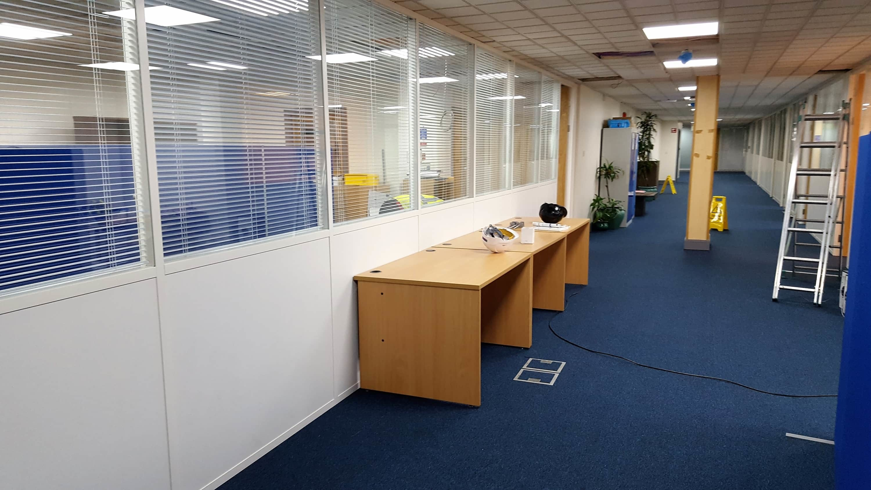 Glass office partitions Oldham
